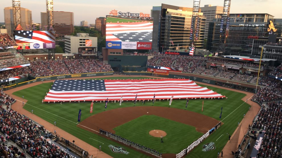 "Sirena Grace sang ""God Bless America"" at the Braves vs. Phillies baseball game"